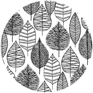 Eloise Renouf, Bark & Branch, Organic, Line Leaf Black