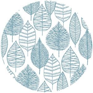 Eloise Renouf, Bark & Branch, Organic, Line Leaf Blue