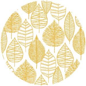 Eloise Renouf, Bark & Branch, Organic, Line Leaf Gold