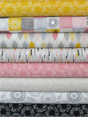 Eloise Renouf, Organic, Shape of Spring, Petal Pink in FAT QUARTERS 8 Total