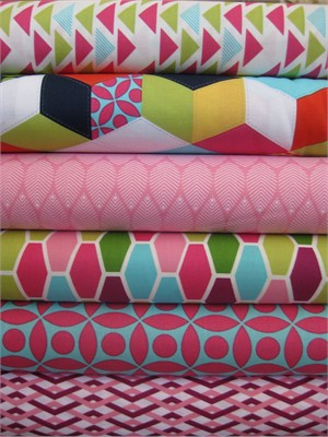 Emily Herrick, Technicolor, Fuchsia in FAT QUARTERS 6 Total