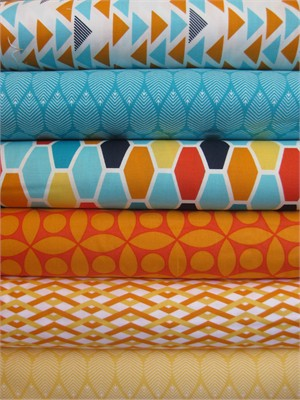 Emily Herrick, Technicolor, Persimmon in FAT QUARTERS 6 Total