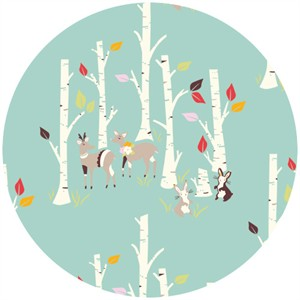 Emily Isabella for Birch Organic Fabrics, Yay Day, Birch Forest