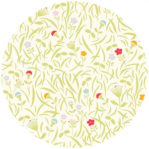Emily Isabella for Birch Organic Fabrics, Yay Day, Grassy Meadow