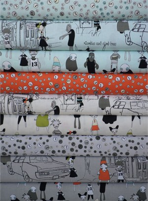 Emily Taylor, Zombie Apocalypse, Entire Collection in FAT QUARTERS 9 Total(Pre-cut)