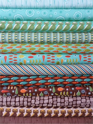 Eric & Julie Comstock for Moda, S'more Love, Pond in FAT QUARTERS 12 Total