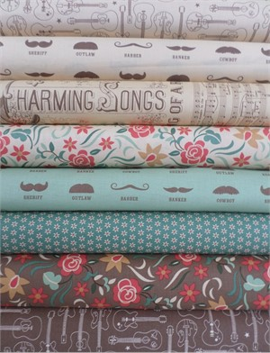 Eric & Julie Comstock, Honky Tonk, Trendy Texans in FAT QUARTERS 8 Total