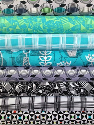 Erin McMorris, Astrid, Aquamarine in FAT QUARTERS 8 Total