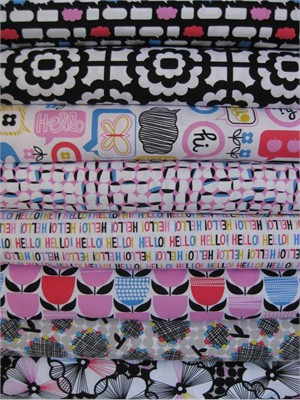 Erin McMorris, Moxie, Bubble Black in FAT QUARTERS, 8 Total
