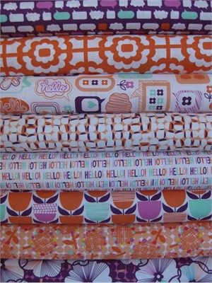 Erin McMorris, Moxie, Ruby Tangerine in FAT QUARTERS, 8 Total
