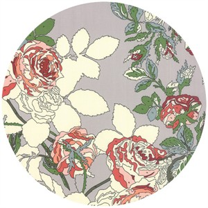 Erin Michael for Moda Fabrics, Purebred, Blanket of Flowers Paddock Grey