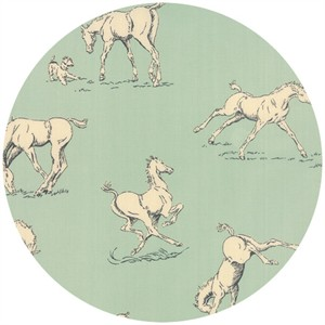 Erin Michael for Moda Fabrics, Purebred, Horsing Around Bluegrass