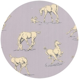 Erin Michael for Moda Fabrics, Purebred, Horsing Around Paddock Grey