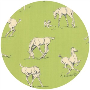 Erin Michael for Moda Fabrics, Purebred, Horsing Around Pasture Green