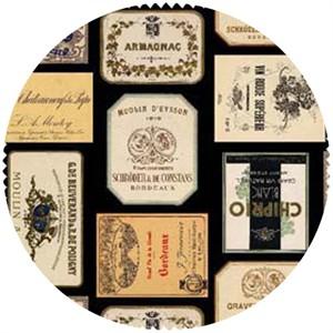E.E. Schenck, Italian Vineyard, Wine Labels Black