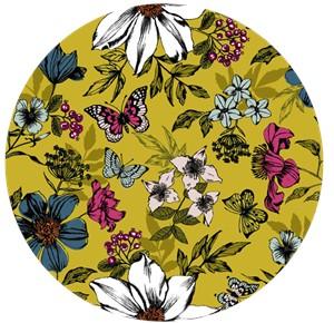 Makower UK, Botanica, Exotic Floral Ochre