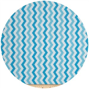Exclusively Quilters, Flamingo Road, Chevron Light Blue