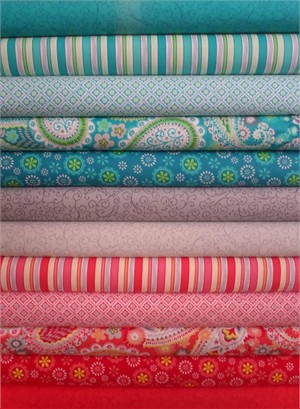Exclusively Quilters, Gypsy in FAT QUARTERS 10 Total (PRE-CUT)