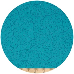 Exclusively Quilters, Gypsy, Swirl Turquoise