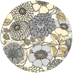 Exclusively Quilters, Shades Of Grey, Floral Bunch Natural