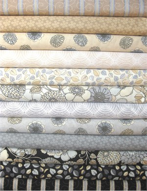 Exclusively Quilters, Shades of Grey in FAT QUARTERS 11 Total�(Pre-cut)