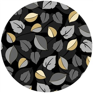 Exclusively Quilters, Shades Of Grey, Leafy Black