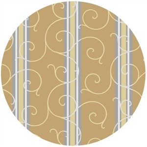 Exclusively Quilters, Shades Of Grey, Scroll Stripe Sand