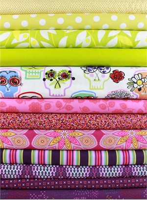 Fabricworm Custom Bundle, Eye Only Have Flowers For You in FAT QUARTERS 12 Total