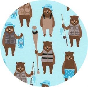 Andie Hanna for Robert Kaufman, Brawny Bears, FLANNEL, Brawny Bears Lake