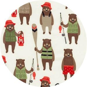 Andie Hanna for Robert Kaufman, Brawny Bears, FLANNEL, Brawny Bears Wild