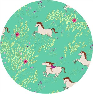 Sarah Jane for Michael Miller, Wee Wander, FLANNEL, Summer Ride Seafoam