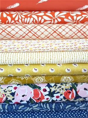 Fabricworm Custom Bundle, Coral Floral 10 Total