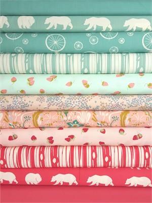 Fabricworm Custom Bundle, Strawberry Fields in FAT QUARTERS 11 Total