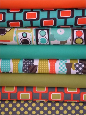 Fabricworm Custom Bundle, 9 to 5 in FAT QUARTERS 8 Total