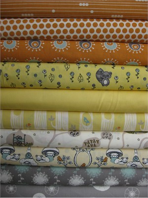 Fabricworm Custom Bundle, Afternoon Siesta in FAT QUARTERS, 10 Total