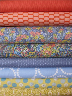 Fabricworm Custom Bundle, April Showers in FAT QUARTERS 8 Total