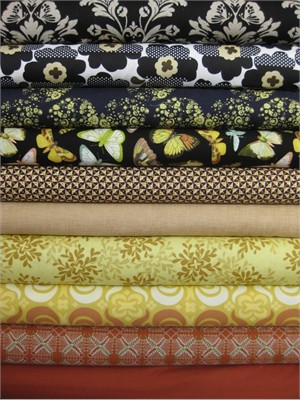 Fabricworm Custom Bundle, Autumn Flutter in FAT QUARTERS, 10 Total