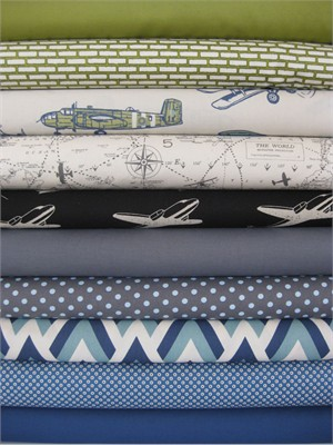 Fabricworm Custom Bundle, Aviator in FAT QUARTERS, 10 Total
