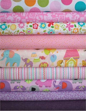 Fabricworm Custom Bundle, Baby Mine in FAT QUARTERS 9 Total