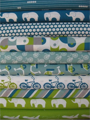 Fabricworm Custom Bundle, Being a Boy v.2 in FAT QUARTERS, 10 Total