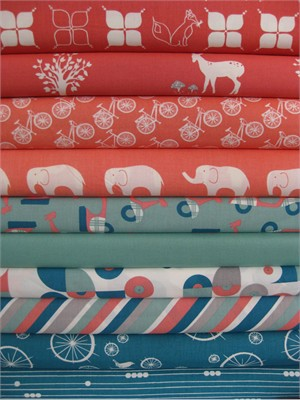Fabricworm Custom Bundle, Being A Girl in FAT QUARTERS, 10 Total