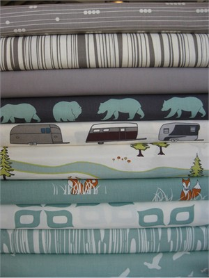 Fabricworm Custom Bundle, Bear Mountain in FAT QUARTERS 10 Total