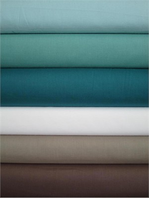 Fabricworm Custom Bundle, Birch Fabrics Mod Solids Sampler, Cool in FAT QUARTERS 6 Total