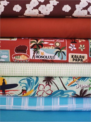 Fabricworm Custom Bundle, Big Island, in Fat Quarters, 7 Total