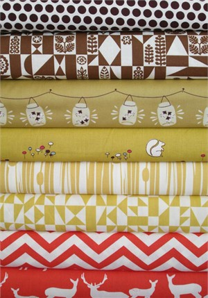 Fabricworm Custom Bundle, Birch Sampler, Camping Trip 8 Total
