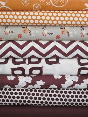 Fabricworm Custom Bundle, Birch Sampler, Orange/Mahogany 8 Total