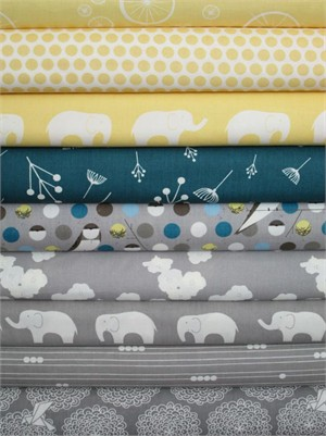 Fabricworm Custom Bundle, Birch Sampler, Winter Nest 9 Total