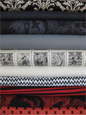 Fabricworm Custom Bundle, Bump in the Night in FAT QUARTERS, 10 Total