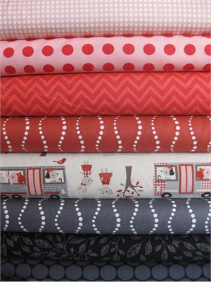 Fabricworm Custom Bundle, Bus Stop in FAT QUARTERS 8 Total