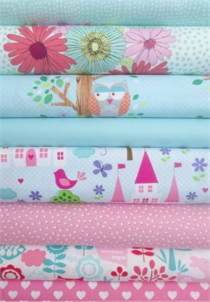 Fabricworm Custom Bundle, Castle Playtime in FAT QUARTERS 7 Total